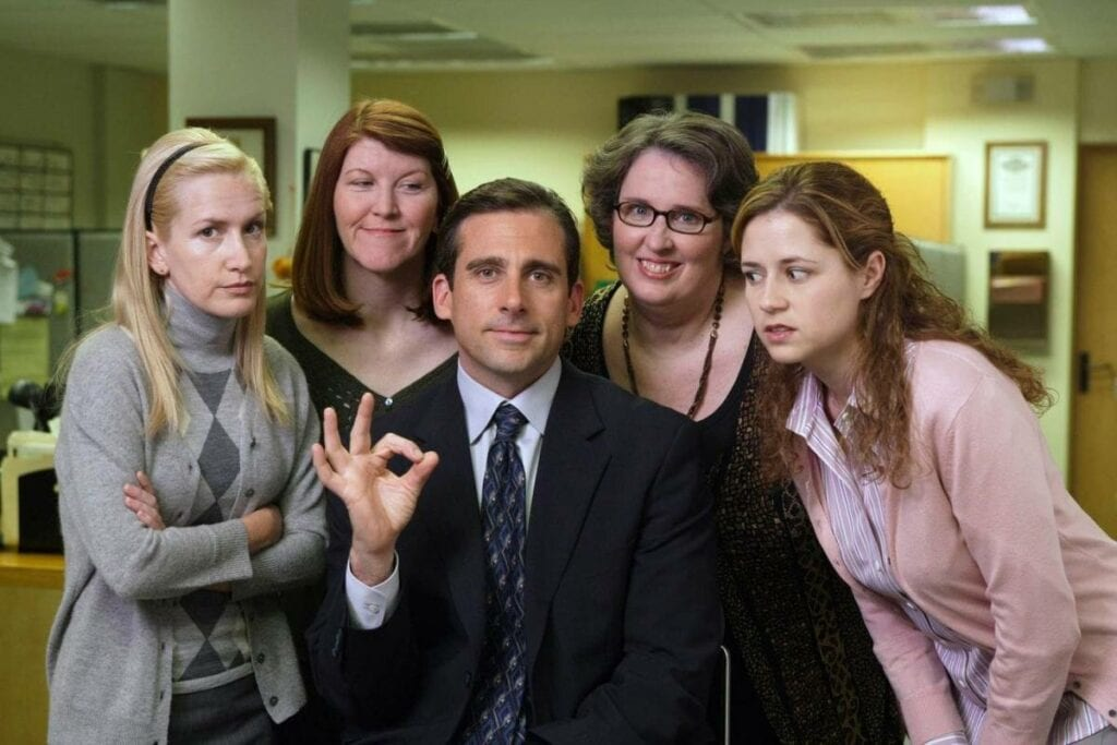 The Office Reboot Steve Carell Angela Kinsey Phyllis Smith