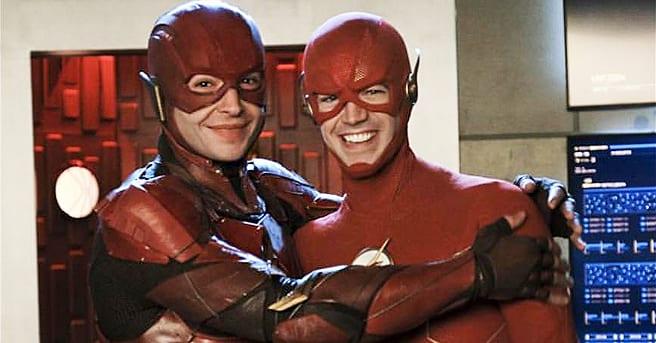 Grant Gustin Ezra Miller Crisis en Tierras Infinitas crossover Flash