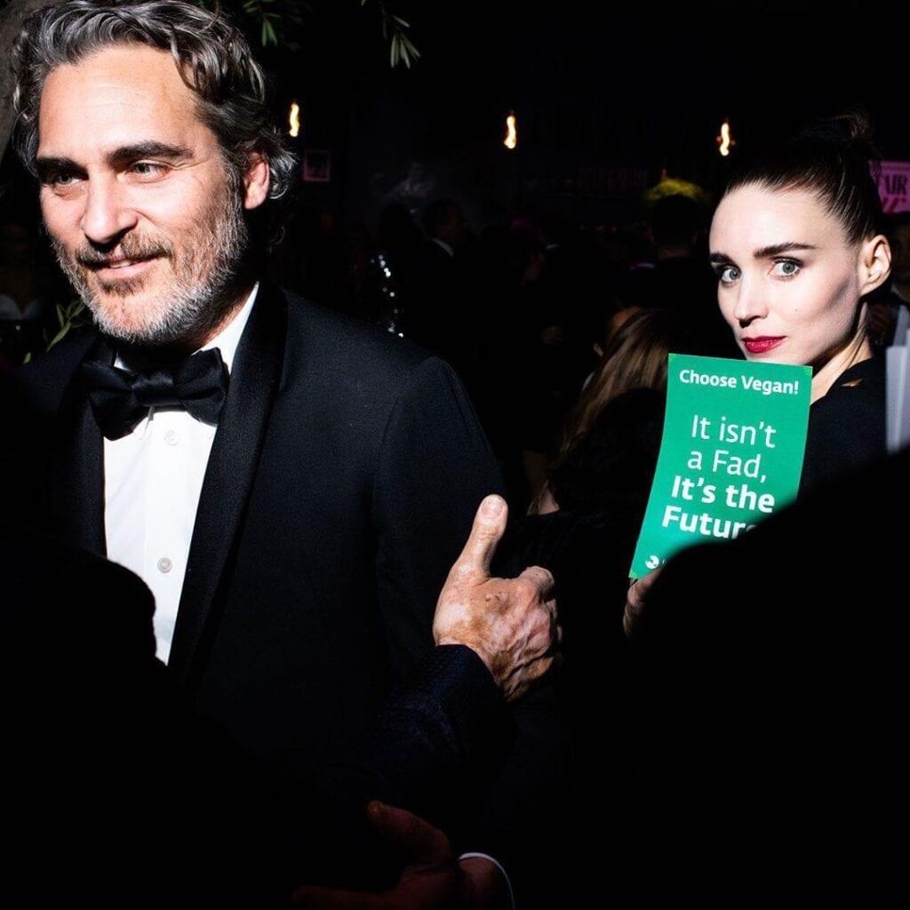 Oscars fiesta Joaquin Phoenix Rooney Mara