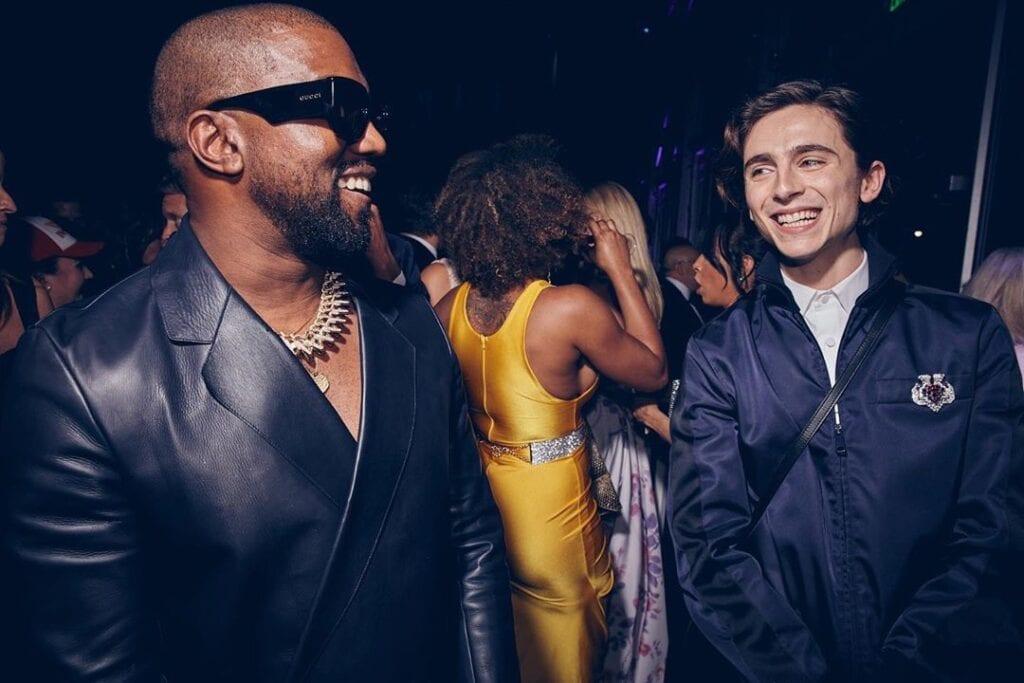 Kanye West Timothée Chalamet fiesta Oscars