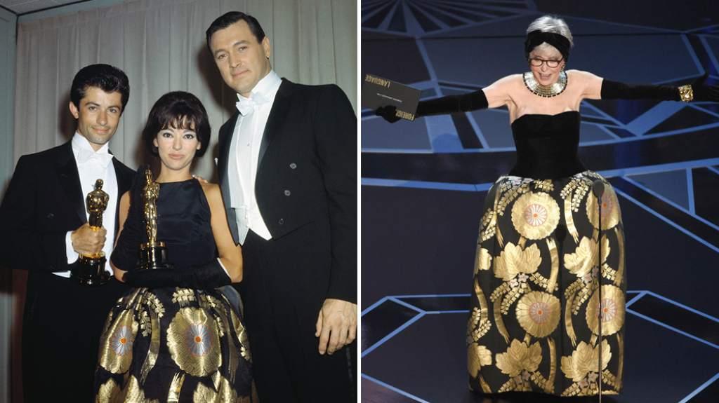 Rita Moreno 1962 y 2019 Joaquin Phoenix