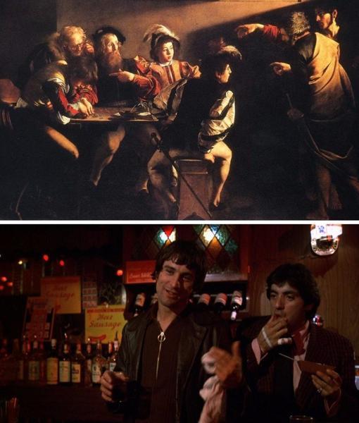 Mean Streets Martin Scorsese La llamada de San Mateo Caravaggio