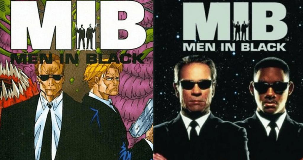 men in black comic y pelicula