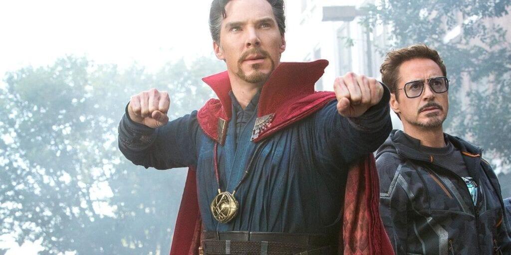 doctor strange y tony stark