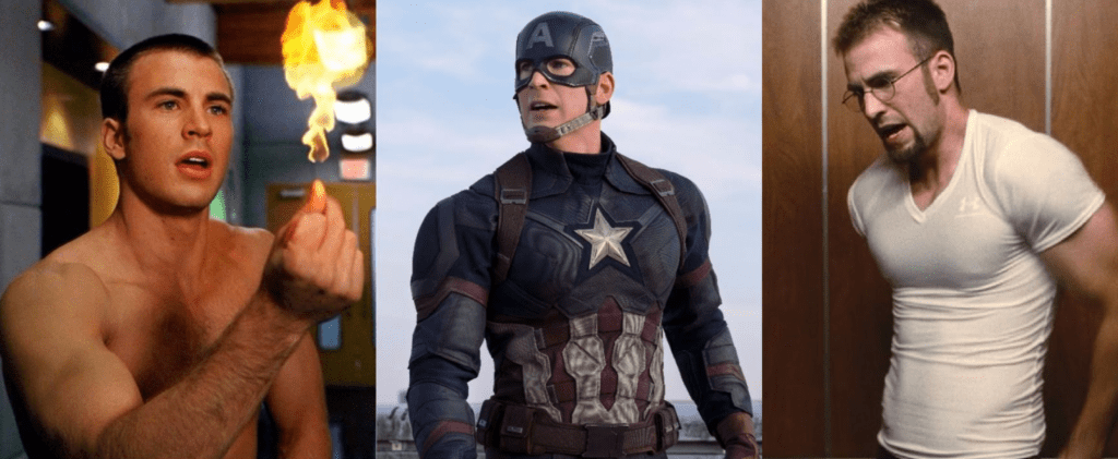 DC y Marvel: chris evans