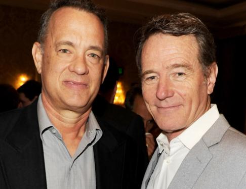 Bryan Cranston y Tom Hanks