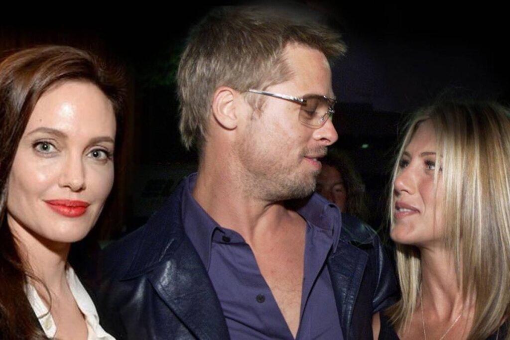 Angelina Jolie  Jennifer Aniston y Brad Pitt