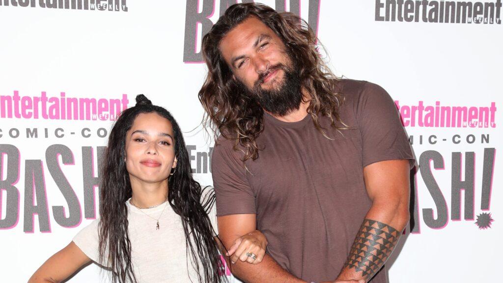 Actores que no sabías que eran familia Jason Momoa y Zoë Kravitz