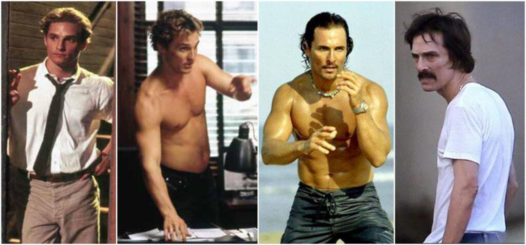 Los actores más camaleónicos de Hollywood matthew mcconaughey