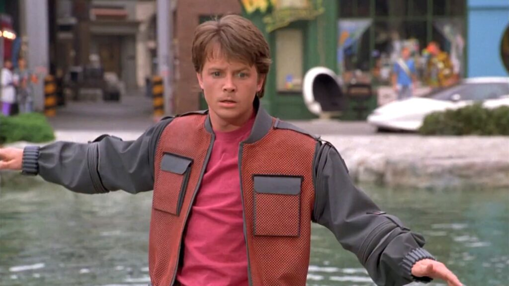 Michael J. Fox en back to the future