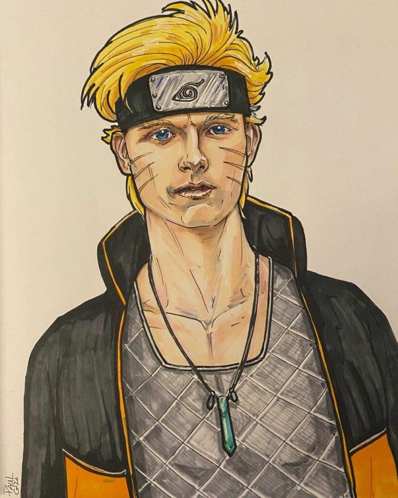 Tom Holland como Naruto