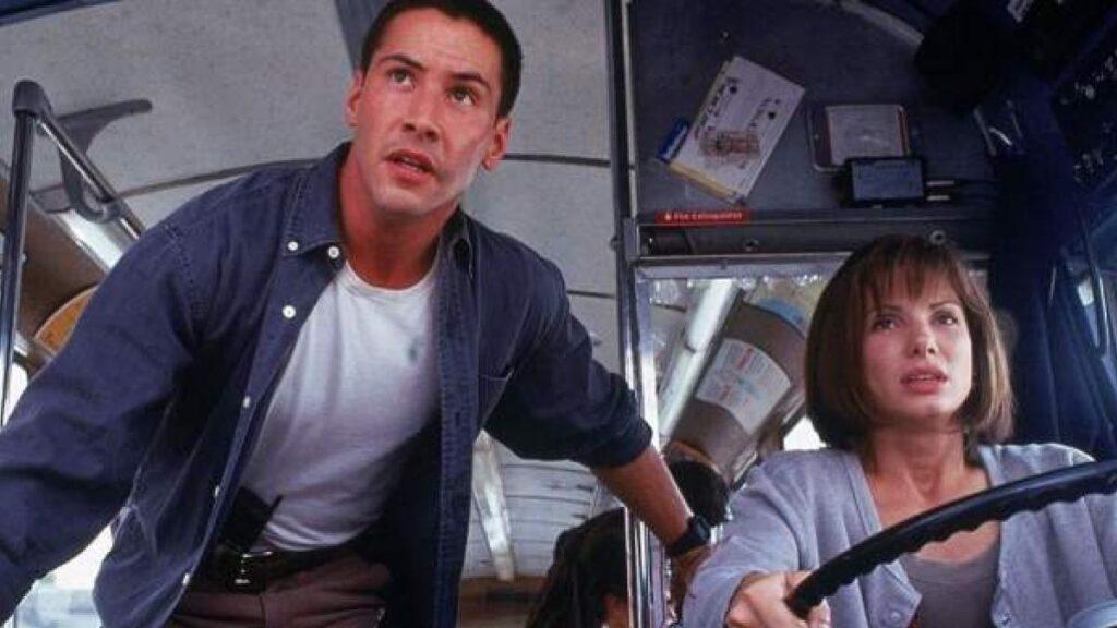 Sandra Bullock y Keanu Reeves speed