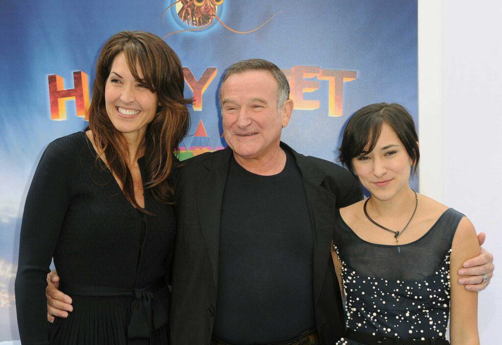 Robin Williams, Susan Schneider y  Zelda Williams