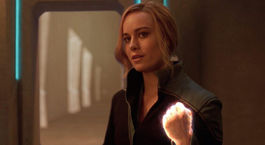 Brie Larson Capitana Marvel Power