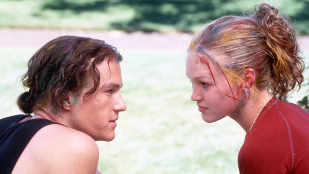 10 Things I Hate About You (1999) Directed by Gil Junger Shown: Heath Ledger, Julia Stiles