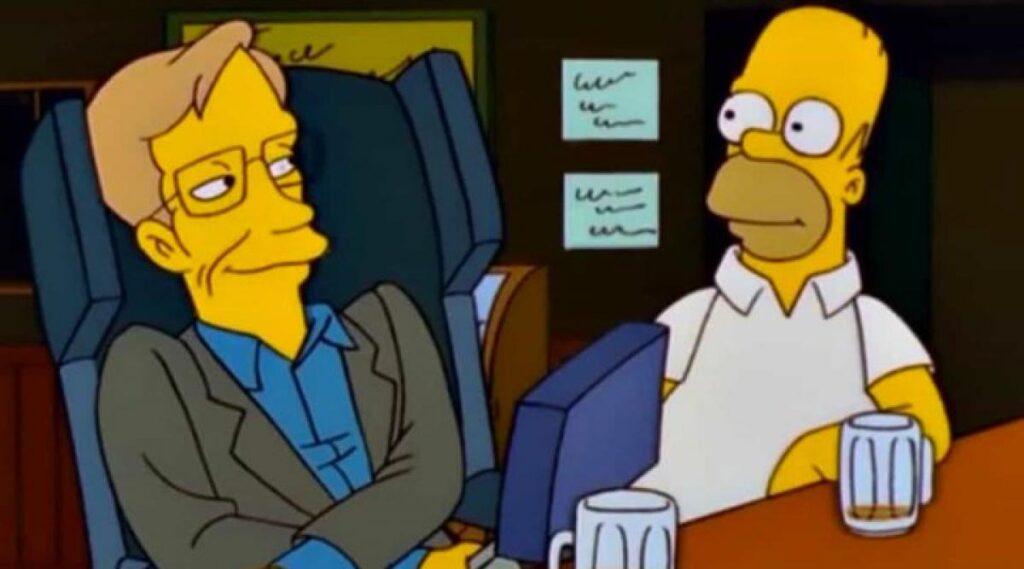 Stephen Hawking and Homer
