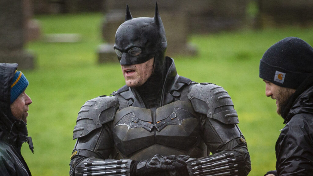 Photo © 2020 Splash News/The Grosby Group Glasgow, February 21, 2020.  The First Images Of The New Batman Movie Set In Glasgow and first look at the new version of the Batman costume that Robert Pattinsaon will wear