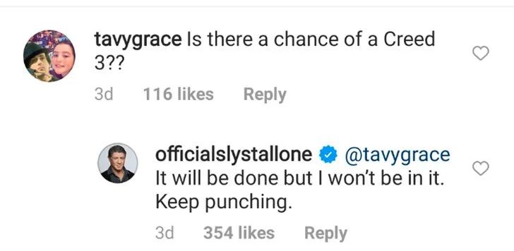 Sylvester Stallone Instagram