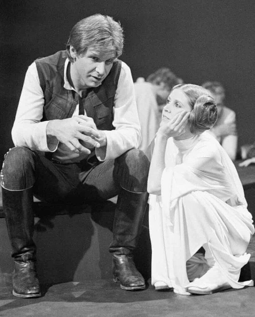 Carrie Fisher y Harrison Ford star wars