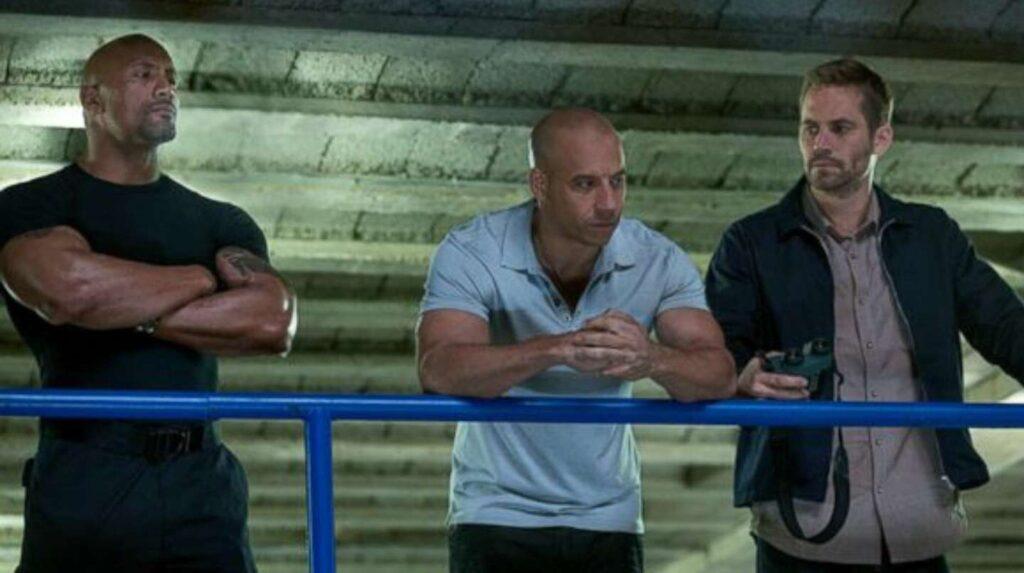 Paul Walker, Vin Diesel y 'La Roca' Johnson