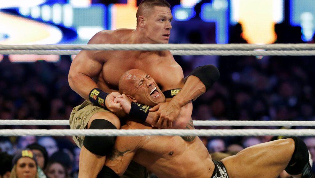 """John Cena y Dwayne """"La Roca"""" Johnson"""