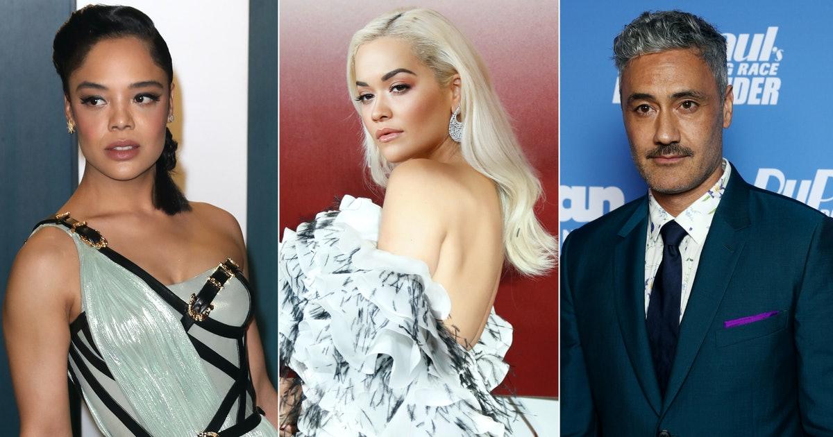 Taika Waititi Tessa Thompson Rita Ora besos Marvel