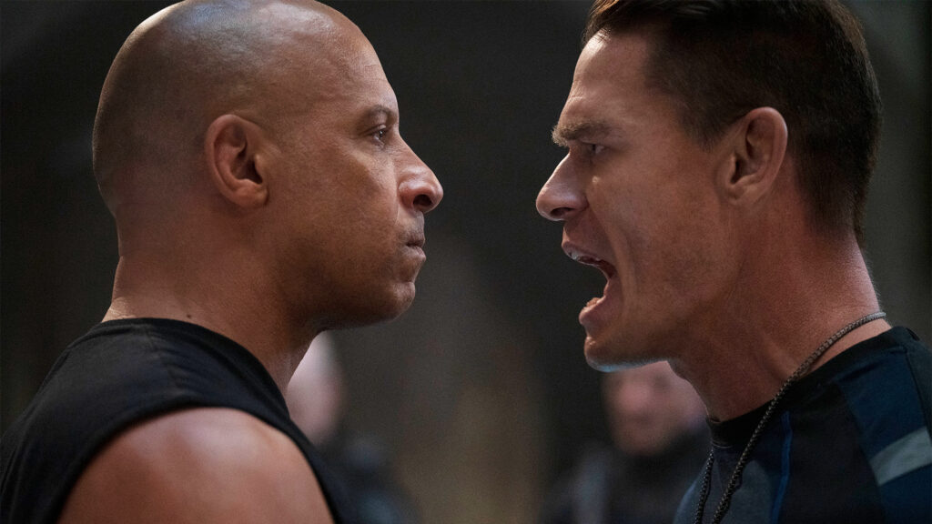 """Dom (Vin Diesel) and Jakob (John Cena) in """"F9,"""" directed by Justin Lin"""