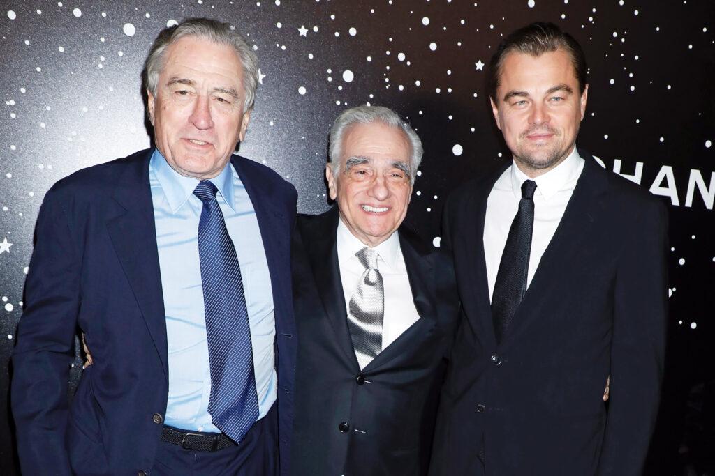Robert DeNiro, Martin Scorsese and Leonardo DiCaprio