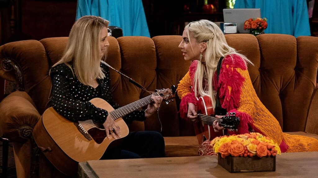 Lisa Kudrow Lady Gaga Smelly Cat Friends The Reunion