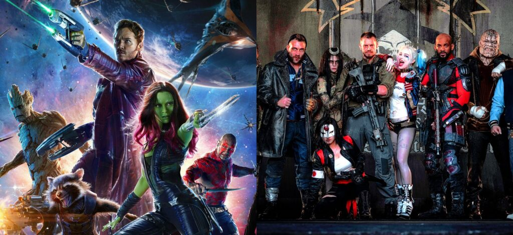 Guardians of the Galaxy and Suicide Squad