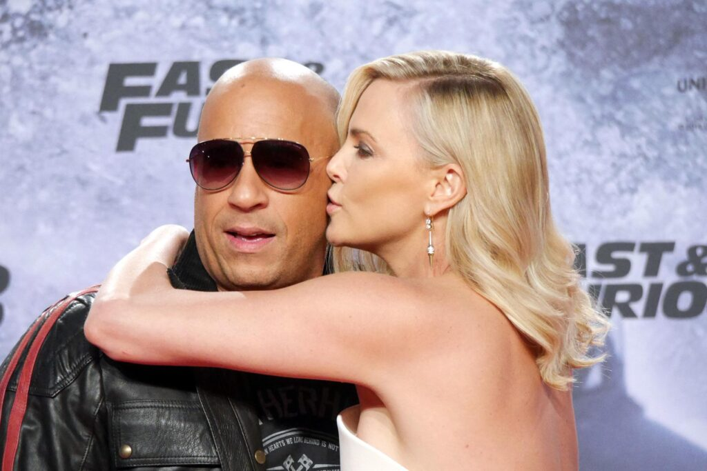 Vin Diesel and Charlize Theron