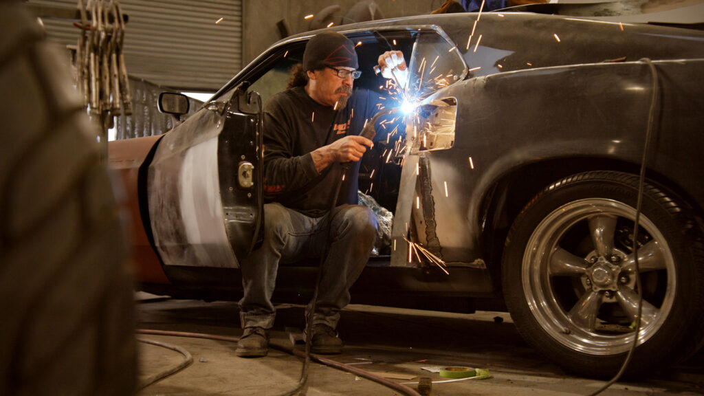 CAR MASTERS:  RUST TO RICHES S3 MARK TOWLE in episode 1 of CAR MASTERS:  RUST TO RICHES S3. Cr. COURTESY OF NETFLIX