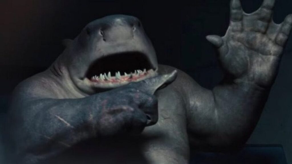 """""""The Suicide Squad"""" king shark sylvester stallone"""