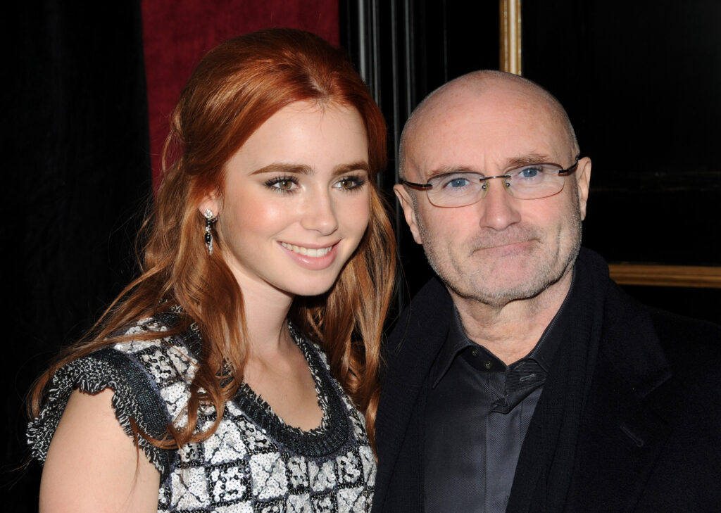 Lily Collins and her father Phil Collins